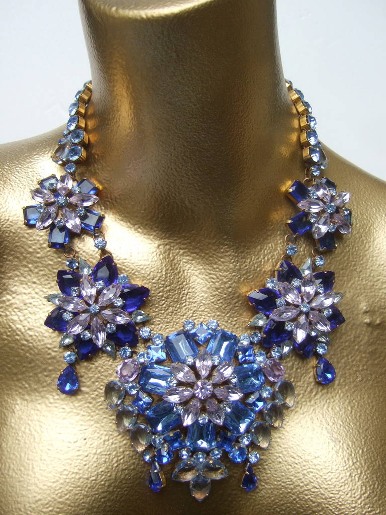 Spectacular Massive Crystal Necklace & Earring Set Designed by Lillien Czech 3