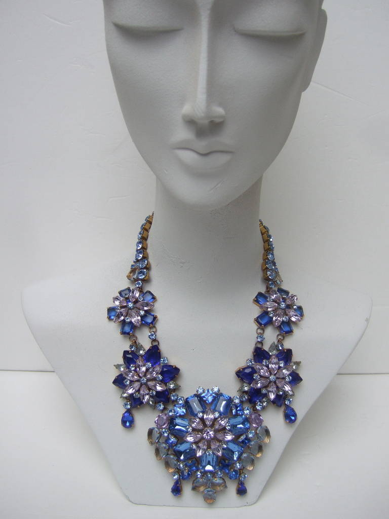 Spectacular Massive Crystal Necklace & Earring Set Designed by Lillien Czech 8