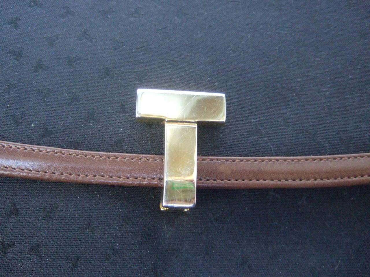 Tiffany & Company Black Canvas Handbag Made in Italy c 1980 For Sale 1