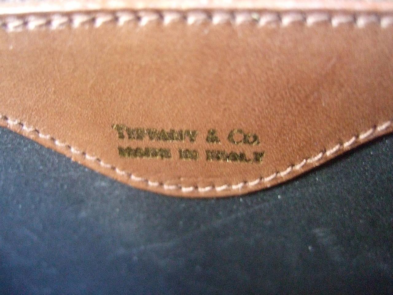 Women's Tiffany & Company Black Canvas Handbag Made in Italy c 1980 For Sale