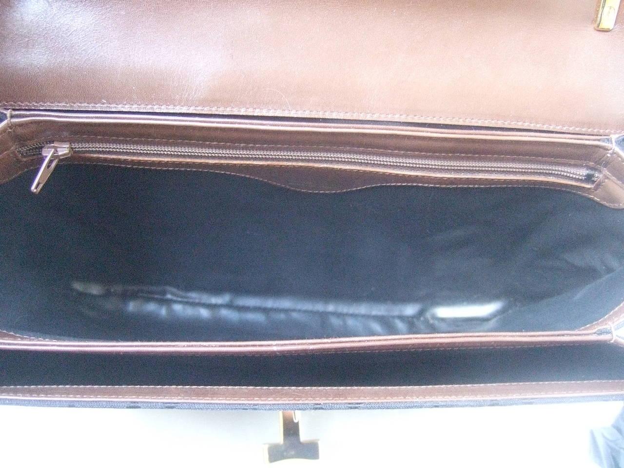 Tiffany & Company Black Canvas Handbag Made in Italy c 1980 For Sale 3