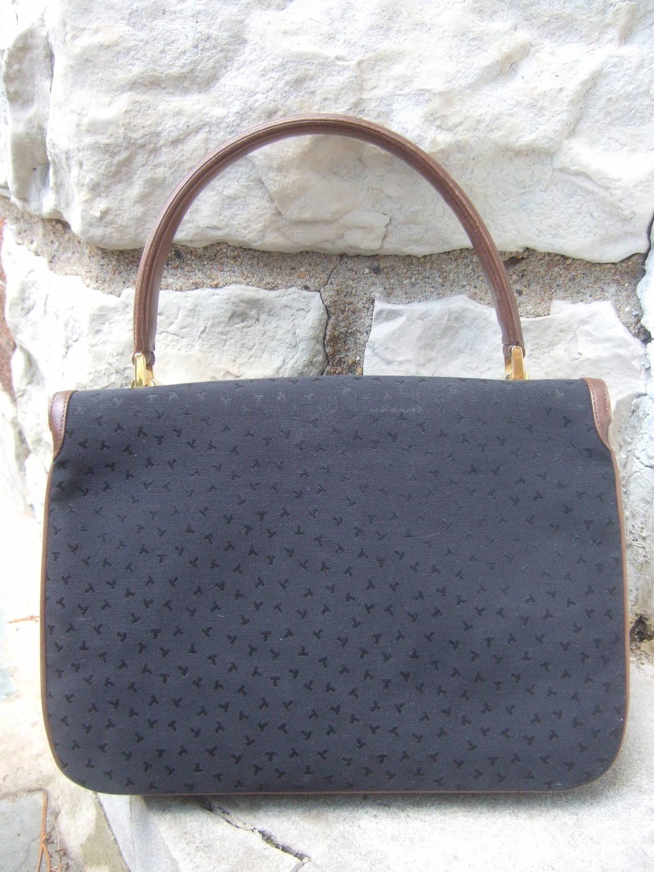 Tiffany & Company Black Canvas Handbag Made in Italy c 1980 For Sale 5