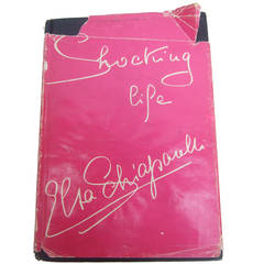 "First Edition of Elsa Schiaparelli's ""Shocking Life"" Book c 1954"