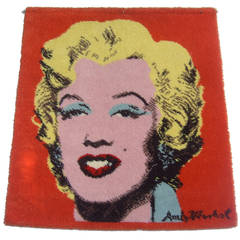 Andy Warhol Marilyn Monroe Replica Hook Knit Wall Hanging c 1970s