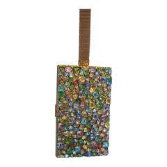 Evans Crystal Encrusted Evening Bag Cigarette Case Compact c 1960
