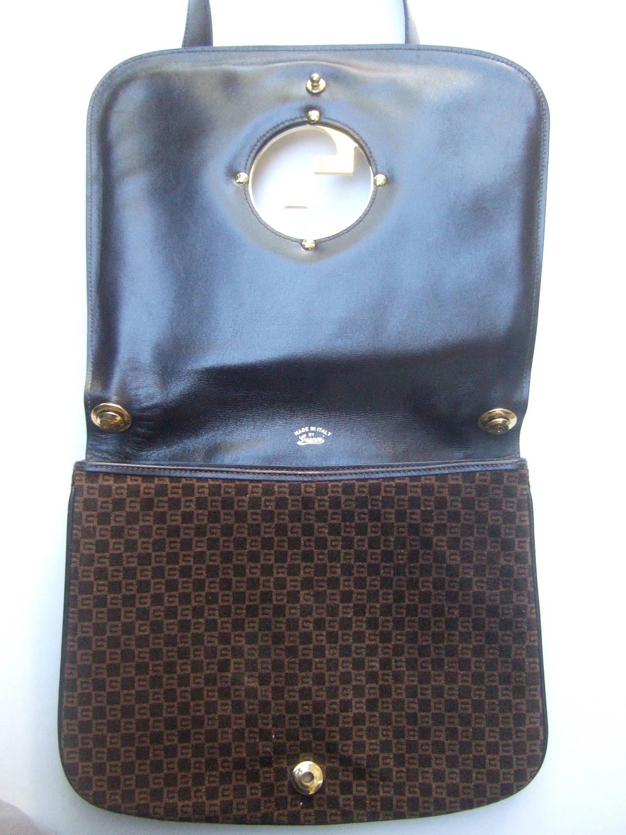 Gucci Brown Suede Blondie Shoulder Bag c 1970 5