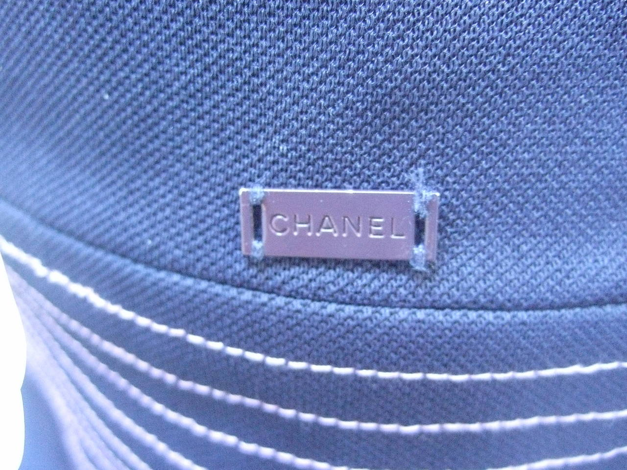 Chanel Sexy Midnight Blue Clingy Jersey Dress Size 38 1