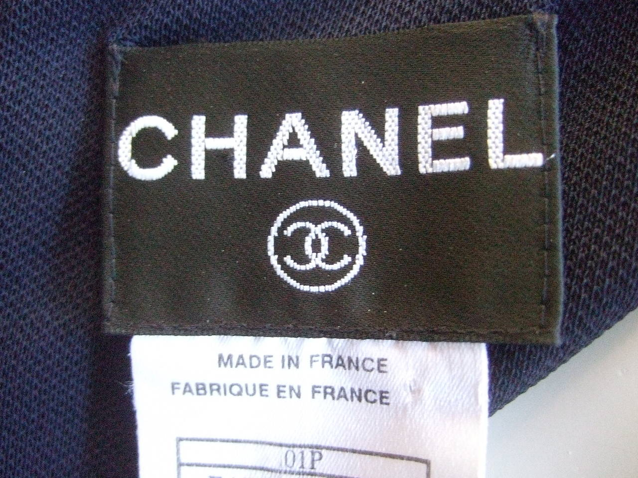 Women's Chanel Sexy Midnight Blue Clingy Jersey Dress Size 38