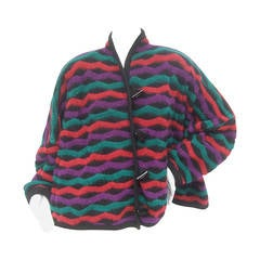 RESERVED SALE PENDING for Ian Hylton Missoni Chunky Striped Wool Knit Cardigan