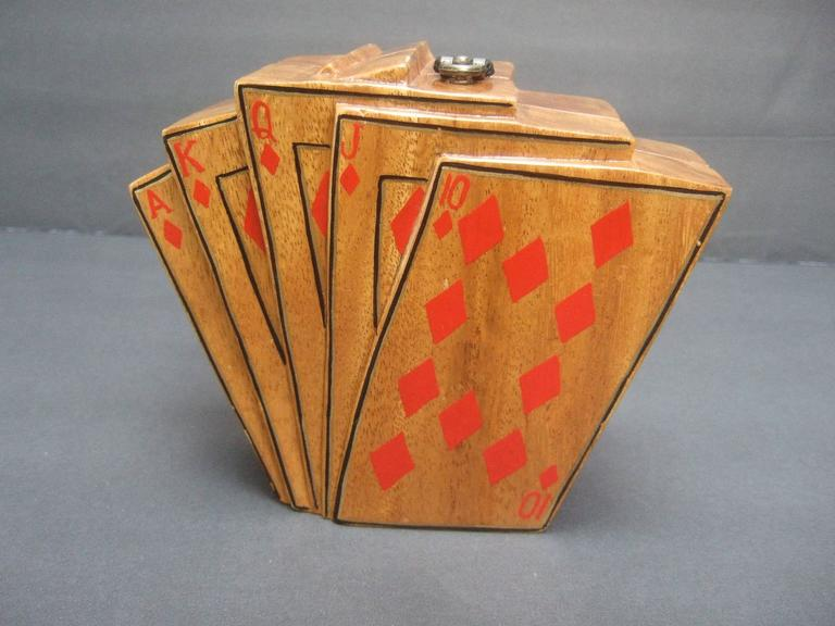Timmy Woods Beverly Hills Unique Playing Card Handbag C
