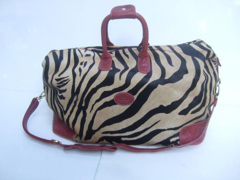 1stdibs Exotic Zebra Pony Hair Travel Bag By Tangarora Made In Italy rQa7yx65Ih