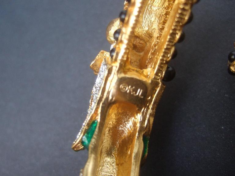 Ken Lane Exotic Jeweled Enamel Dragon Bracelet. For Sale 6