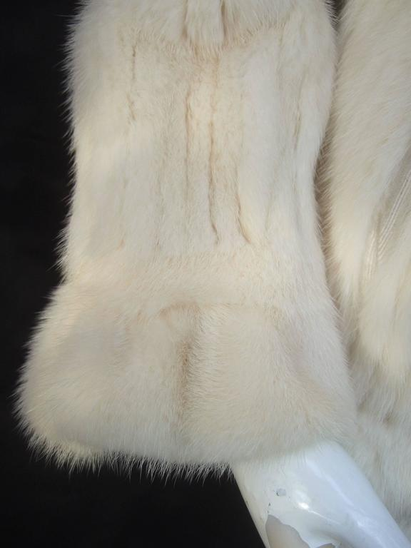 Luxurious Ribbed Pearl Mink Fur Jacket c 1980 7