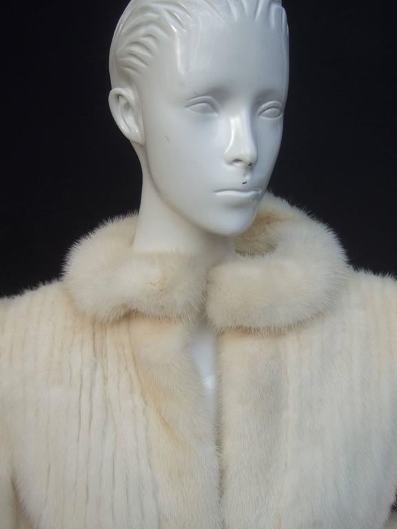 Luxurious Ribbed Pearl Mink Fur Jacket c 1980 8