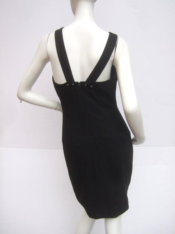 eb4c56ede38 Chanel Boutique Chic Black Wool Cocktail Dress Size 42 For Sale at ...