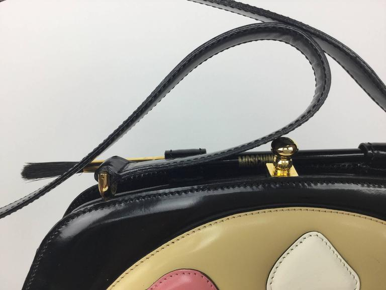Women's Rare Moschino Artist's Palette Handbag. 1990's. For Sale