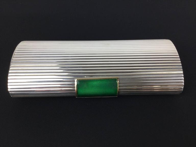 Stunning Gucci Sterling Silver And Enamel Clutch Purse