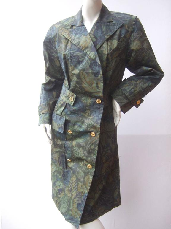 Balenciaga Paris Polished Cotton Floral Trench Coat Size