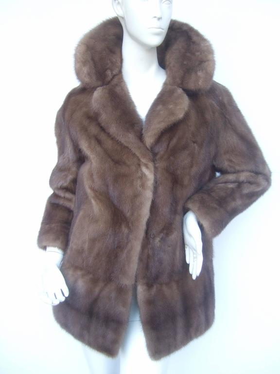 Luxurious Autumn Haze Mink Fur Jacket C 1970s At 1stdibs