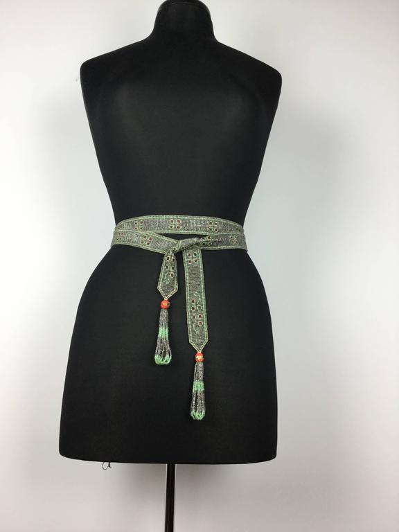 Simply gorgeous woven Art Deco seed bead piece of the highest quality that can be worn in so many ways!