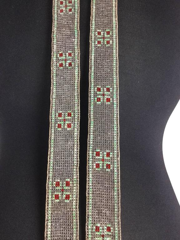 1920's Seed Bead Flapper Belt/Sautoir Necklace. Art Deco. In Excellent Condition For Sale In Santa Barbara, CA