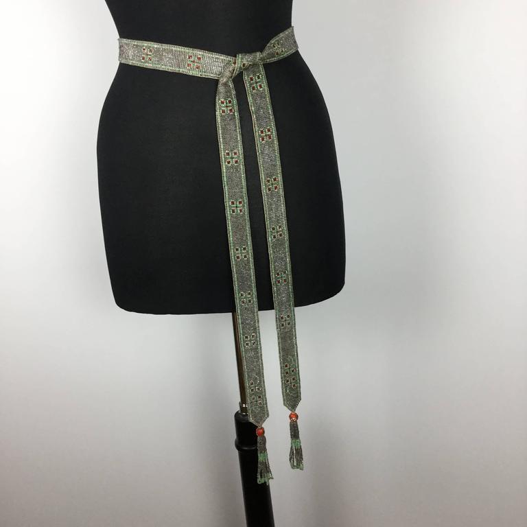1920's Seed Bead Flapper Belt/Sautoir Necklace. Art Deco. 6