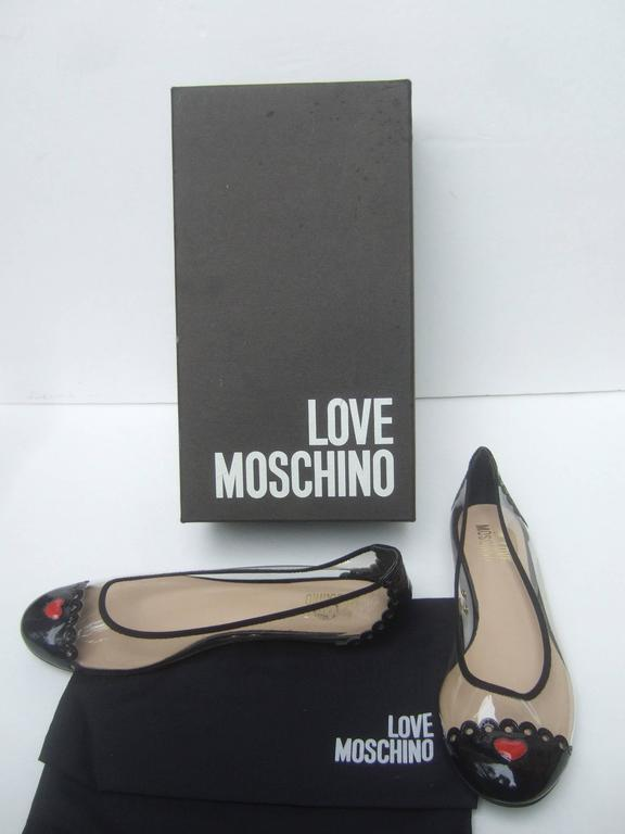 Moschino Cap Toe Ballet Style Flats In Box Size 38 At 1stdibs