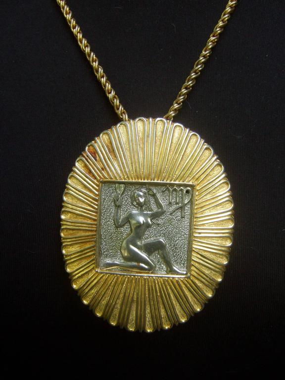 Judith Leiber Figural Woman Pendant Necklace c 1970s For Sale 5