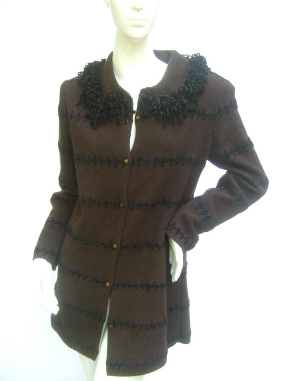 fendi italy chocloate brown cardigan sweater c 1990s for sale at 1stdibs