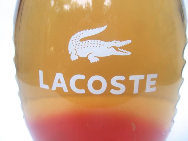 Orange Lacoste Huge Glass Fragrance Factice Display Bottle  For Sale