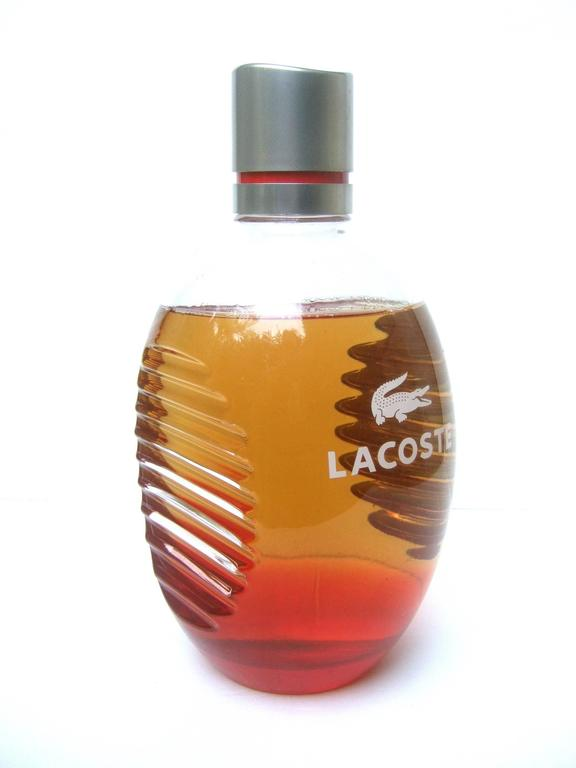 Lacoste Huge Glass Fragrance Factice Display Bottle  In Excellent Condition For Sale In Santa Barbara, CA