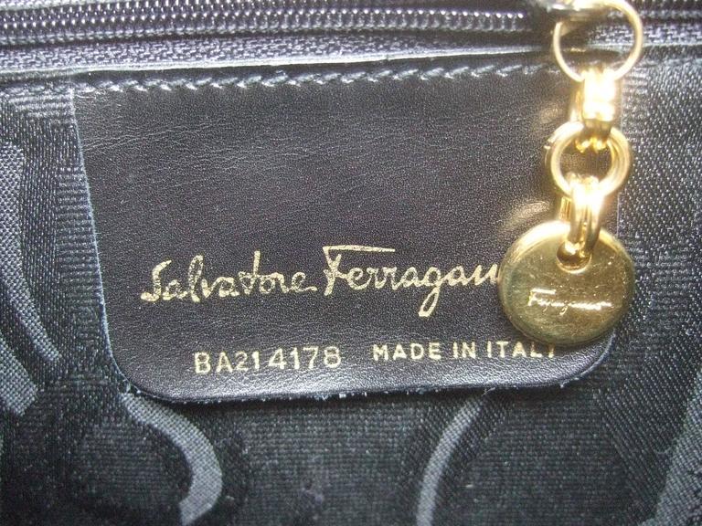 Salvatore Ferragamo Italy Mocha Brown Suede Handbag c 1990  For Sale 4