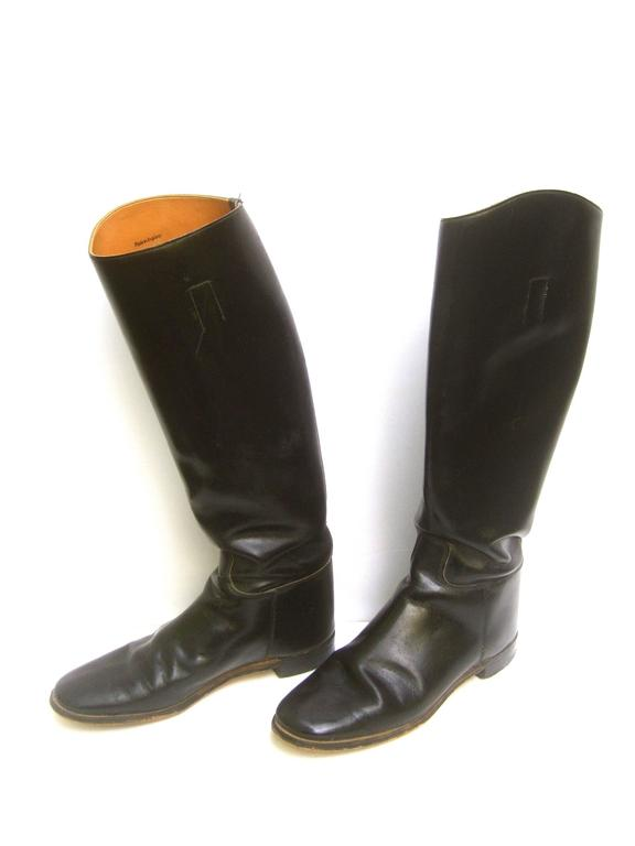 Men S English Equestrian Black Leather Boots Us Size 8 5