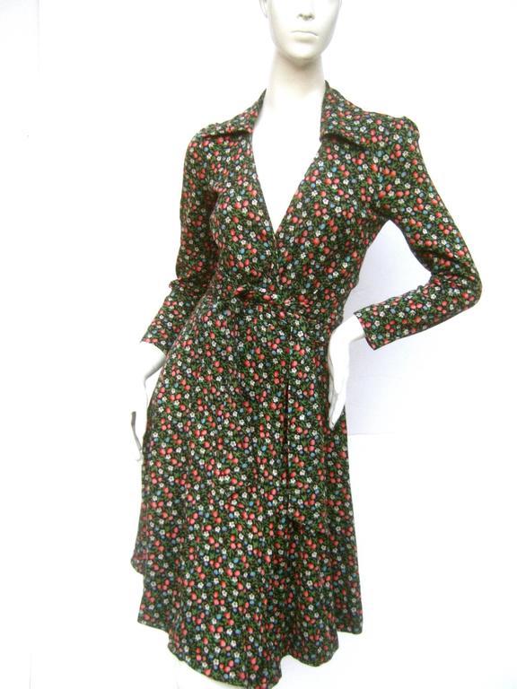 Diane Von Furstenberg Iconic Floral Print Italian Wrap