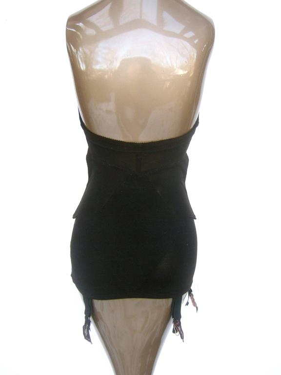50f533d7f3 Saks Fifth Avenue Sexy Black Lace Merry Widow Girdle c 1950s at 1stdibs