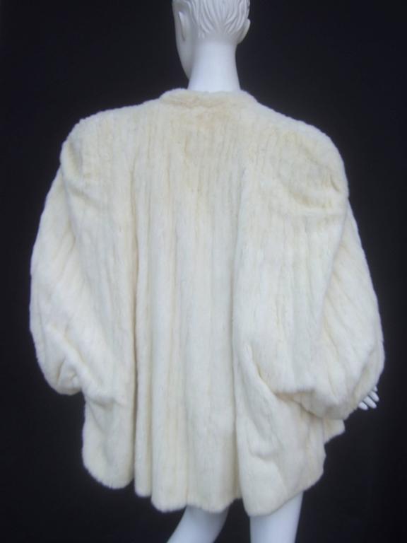 Opulent Plush Ermine Fur Capelet Wrap C 1960 At 1stdibs