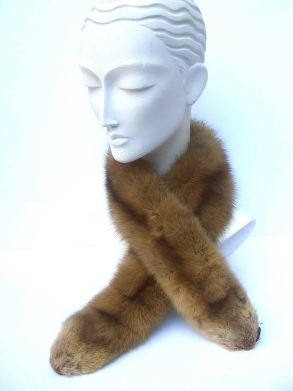 Gray Luxurious Plush Sable Fur Collar ca 1960s  For Sale