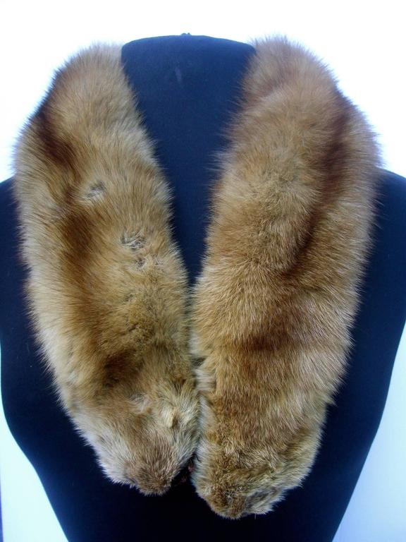 Luxurious Plush Sable Fur Collar ca 1960s  For Sale 1