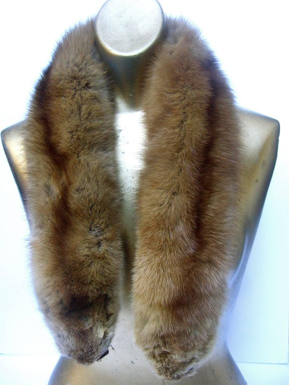 Women's Luxurious Plush Sable Fur Collar ca 1960s  For Sale