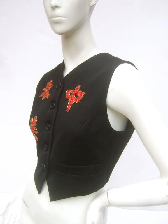 Women's Dolce and Gabbana Exotic Glass Beaded Dragon Vest Size 42  For Sale