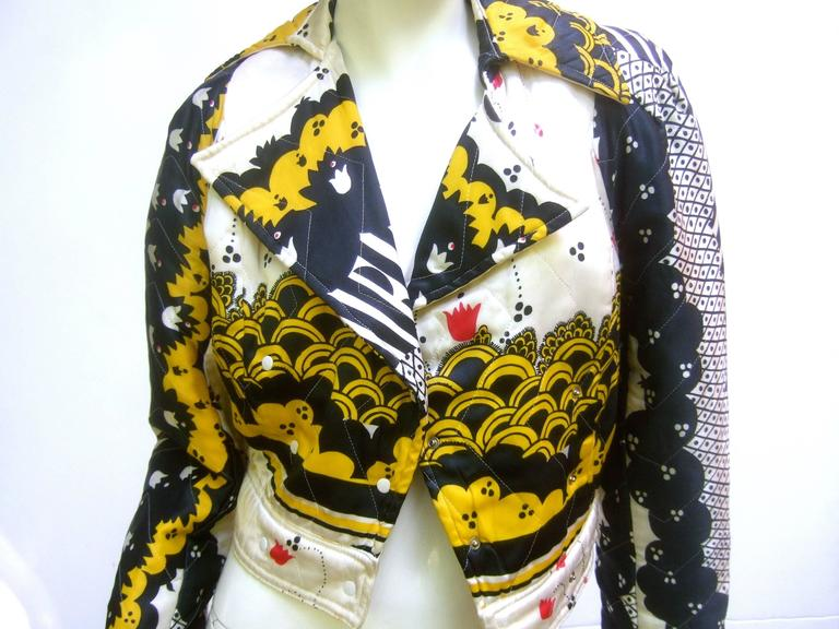 Important Ossie Clark Couture Satin Quilted Jacket. Late 1960's. 3