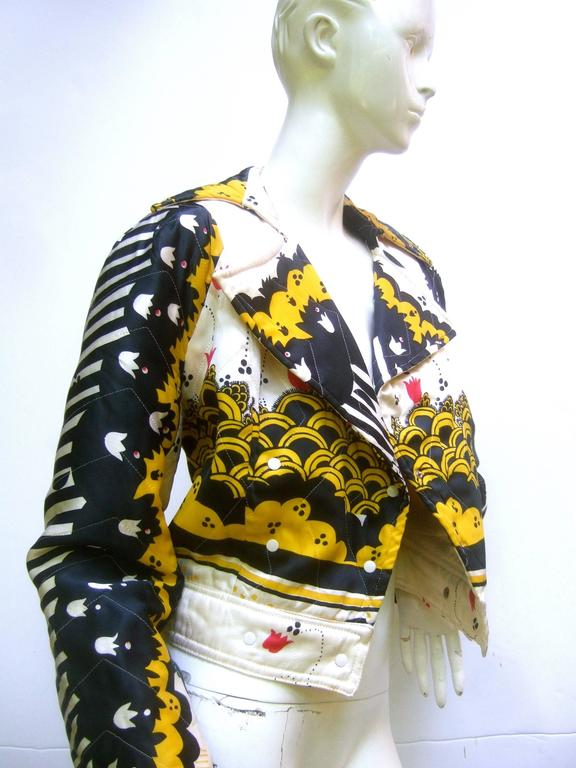 Important Ossie Clark Couture Satin Quilted Jacket. Late 1960's. 4