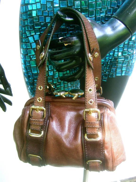 Black Marc Jacobs Italian Brown Leather Diminutive Handbag  For Sale
