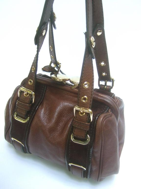 Marc Jacobs Italian Brown Leather Diminutive Handbag  In Excellent Condition For Sale In Santa Barbara, CA