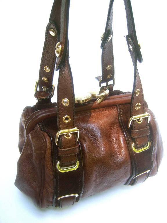 Marc Jacobs Italian Brown Leather Diminutive Handbag  For Sale 3