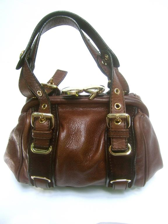 Women's Marc Jacobs Italian Brown Leather Diminutive Handbag  For Sale