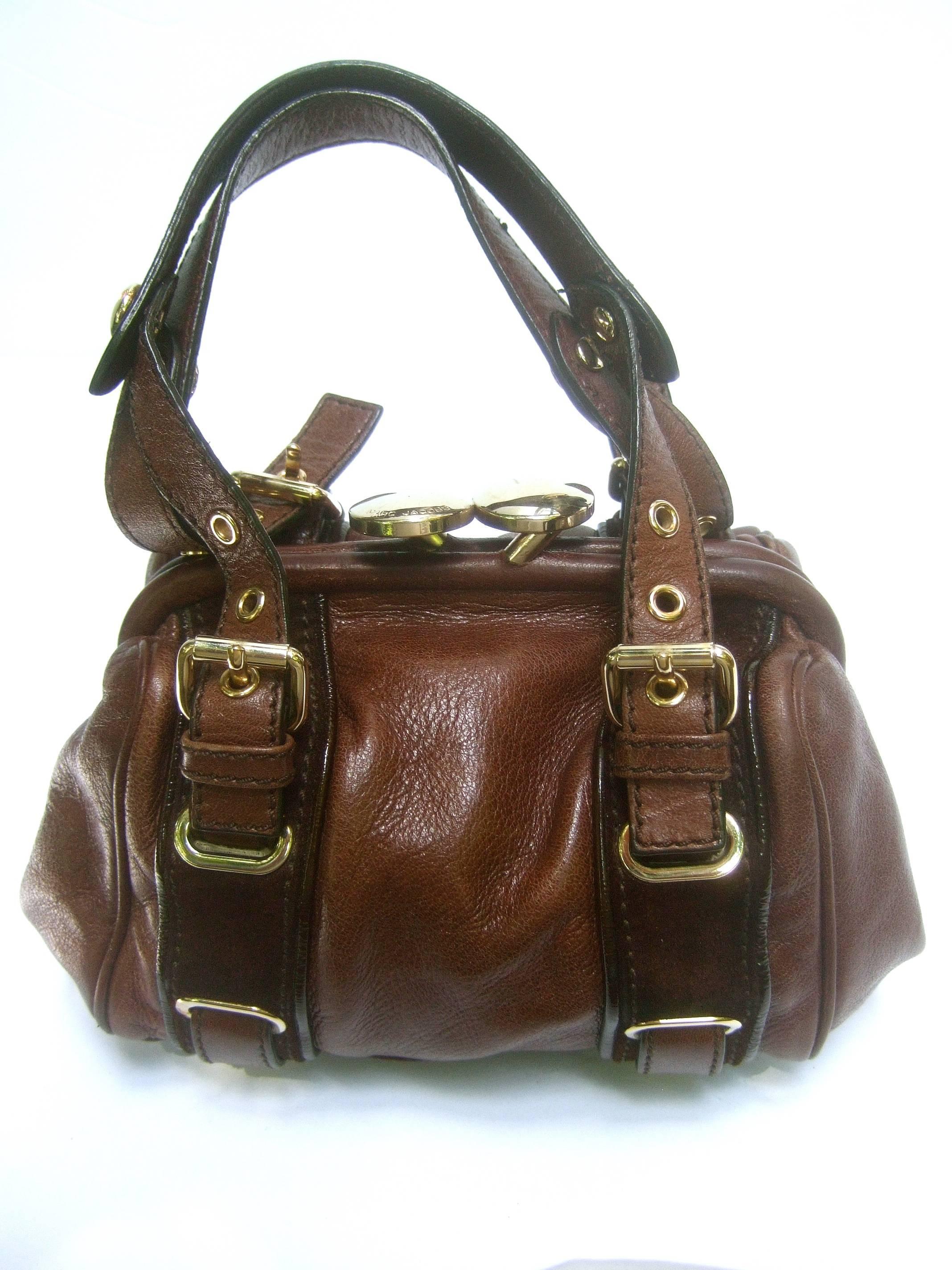 440c33466a8d Marc Jacobs Italian Brown Leather Diminutive Handbag At 1stdibs. Lyst Marc  By Jacobs Clic Q Natasha Crossbody ...
