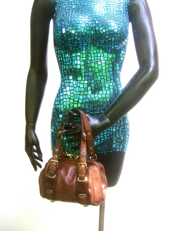 Marc Jacobs Italian Brown Leather Diminutive Handbag  For Sale 2