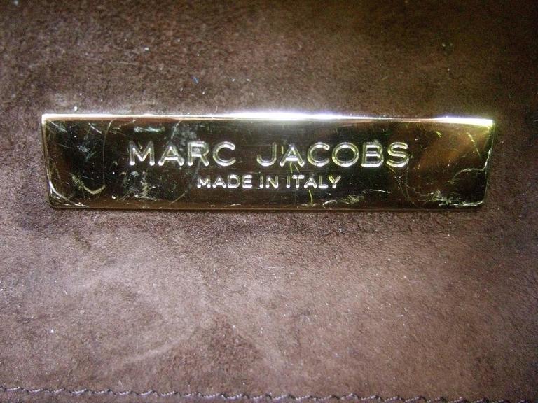 Marc Jacobs Italian Brown Leather Diminutive Handbag  For Sale 4