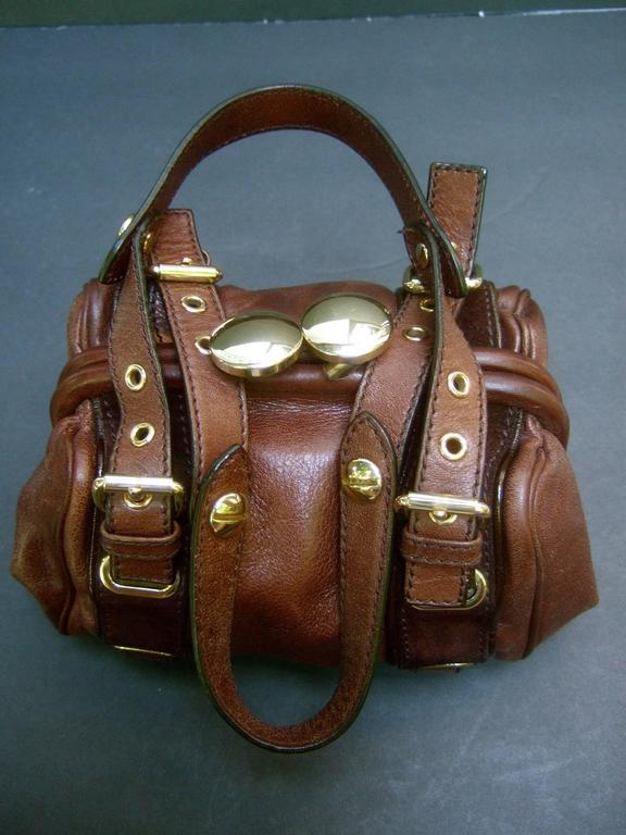 Marc Jacobs Italian Brown Leather Diminutive Handbag  For Sale 1